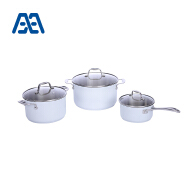 High end soup pot stainless steel cookware set