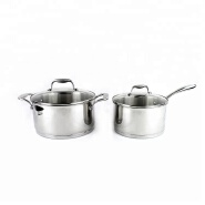 High end durable stainless steel soup pot set cookware