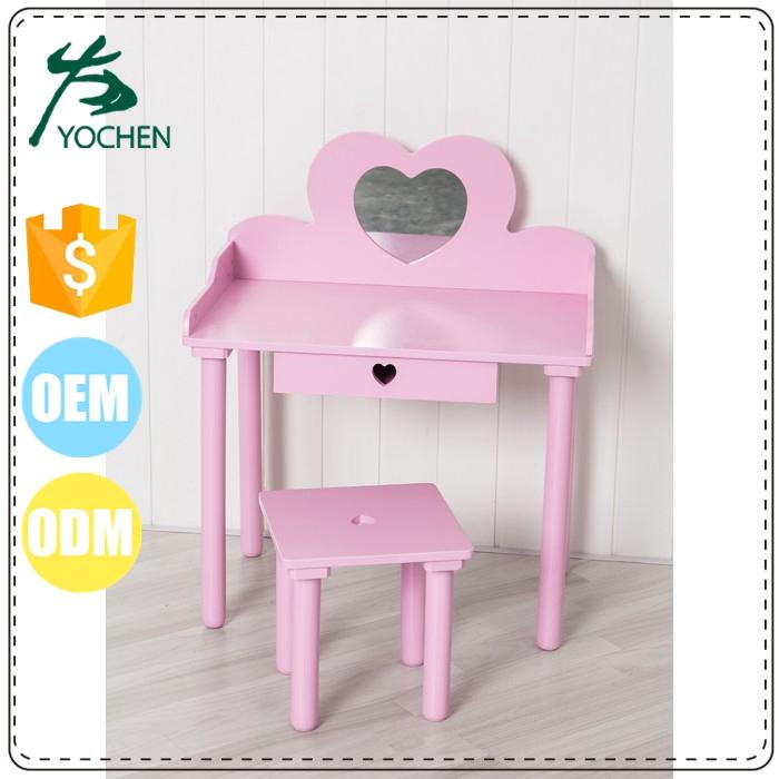 Pink Children Dressing Table for Little Girl