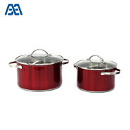 Hot selling stainless steel hot pot casserole set kitchen cookware set
