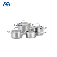 Latest induction bottom stew pot stainless steel cooker cookware set
