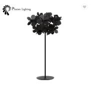 Mysterious Modern Black Flower Covered decorative Floor Lamp