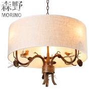 pine cone rustic chandelier metal chain chandelier modern retro lighting
