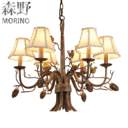 6 8 heads country lamps log cabin lamp shades retro design for home lighting