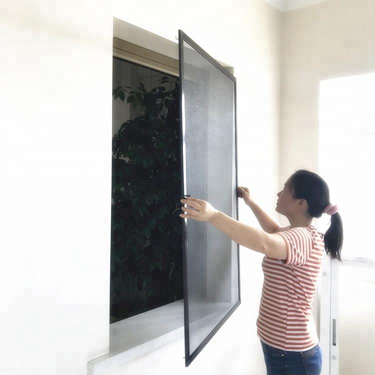 Interior Aluminum screen window with fiberglass mesh