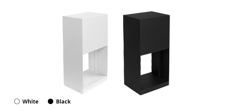 Savia cube Iron&PMMA 220-240V Max.10W E27 IP44 square waterproof outdoor garden lamp led e27 garden lamp post light black&white