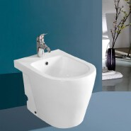 2015 new design bathroom ceramic toilets with built-in bidet