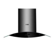 black stainless steel cover duct & tempered glass copper motor with double impellers range hood