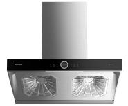 Intelligent hot cleaning dual-motor range kitchen hood