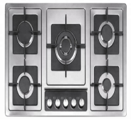 5 gas burner stainless steel panel with deep panel design auto ignition gas stove