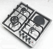 3 gas burner+1 electric burner stainless steel panel auto ignition gas cooker stove