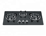 3 burner tempered glass panel auto ignition gas cooker stove