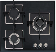 3 gas burner tempered glass panel auto ignition gas stove OEZ-623F