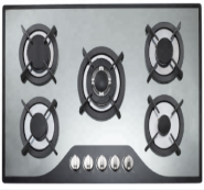 5 gas burner tempered glass panel with mirror finishing auto ignition gas stove OEZ-925M3