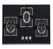 3 gas burner tempered glass panel auto ignition gas stove OEZ-823F