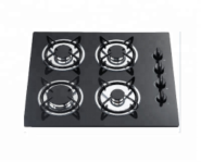 4 gas burner tempered glass panel auto ignition gas cooker stove
