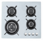 5 gas burner tempered glass panel auto ignition gas cooker stove  OEZ-925White