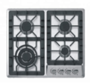 4 gas burner stainless steel panel with deep panel design auto ignition gas stove