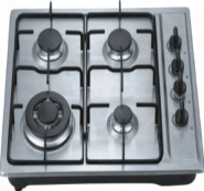4 gas burner stainless steel panel auto ignition gas stove OEZ-614B