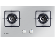 High quality Built-in with Double burner stainless steel panel gas stove