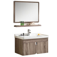 chinese factory wholesale cheap modern stainless steel bathroom vanity cabinets with mirror