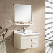 chinese cheap good quality hotel modern stainless steel bathroom vanity cabinets with mirror
