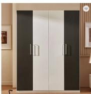 Good quality black and white bedroom wardrobe