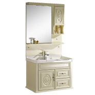 chaozhou factory cheap hotel modern pvc bathroom vanity cabinet with mirror