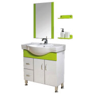 chinese factory direct selling cheap hotel modern pvc bathroom vanity cabinet with mirror