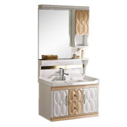 chinese factory cheap 800mm washroom modern pvc bathroom vanity cabinet in chaozhou