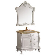 Chaozhou floor mounted modern pvc vanity bathroom cabinet with mirror