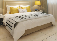 Brand New Quality Assured Latest Designs bedroom hotel furniture cheap steel hotel bed CH-035