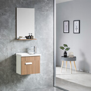 2019 Wholesale Cheap Price Single Basin Bathroom Vanity Cabinets High Class Waterproof PVC Bathroom Cabinet 6523