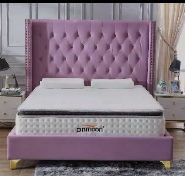 The Most Popular Export Quality OEM Design headboard king size hotel bedroom bed CH-032