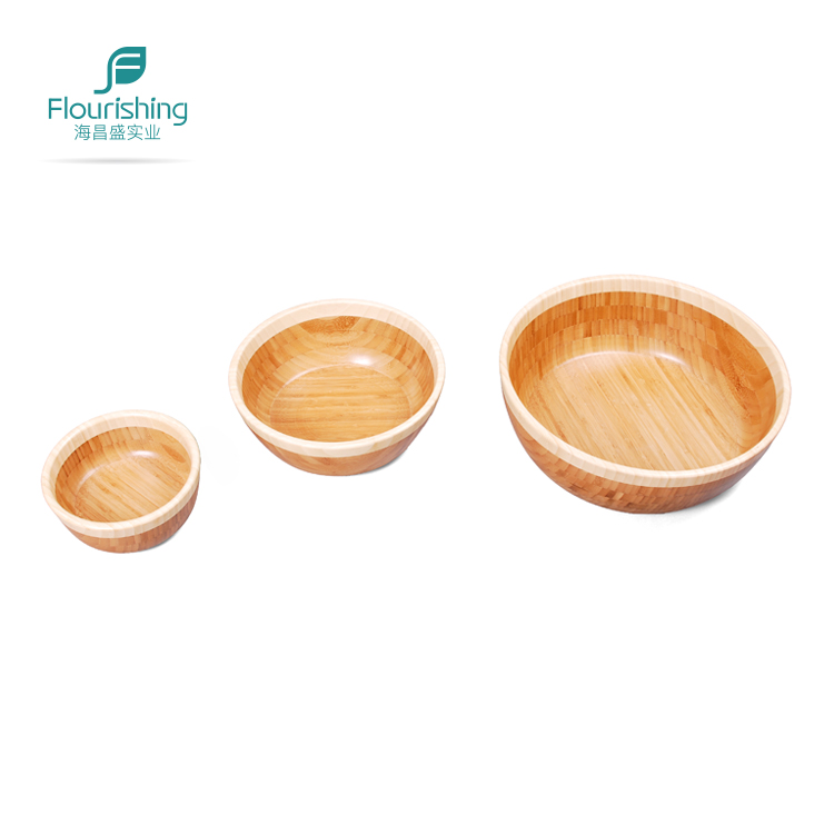 High Quality Bamboo Salad Bowl Snack Bowl Set Of 3PCS