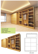Hot Selling Good Quality Classic Design Wardrobe WR