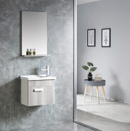 2019 New Fashion Small Size Bathroom Mirror Cabinet Wall Mounted Bathroom Vanity Cabinet Best Price Pvc Bathroom Cabinet 6522