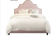 New design high quality solid wood home furniture bedroom furniture king size hotel bed