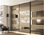On Sale Premium Quality Good Design Modern Bedroom Furniture 3 Sliding Doors glass Wardrobe