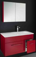 Modern Style Economic Bathroom Cabinet PVC Bathroom Vanity With Wash Basin Factory Direct Sale PVC Bathroom Cabinet 6526-60