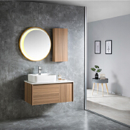 New Design Bathroom Cabinet With Artificial Stone Countertop Best Quality Bathroom Vanity PVC Bathroom Furniture New Design Bathroom Cabinet