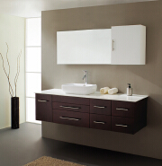 chinese factory lowes hotel modern pvc bathroom vanity cabinets with mirror