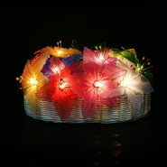 Handmade Home Decoration Lighting Lily Flower Design String Lights For Holiday, Party, Wedding, Chri