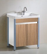 Chaozhou Factory Price Bathroom Vanity High Quality Best Selling Waterproof PVC Bathroom Cabinet With Wash Basin 6526-80
