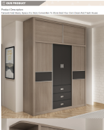 The Most Popular Export Quality Particle Board Sliding Door Bedroom Furniture Closet Wood Wardrobe Cabinets