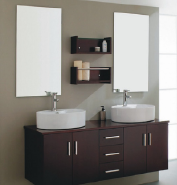 chinese lowest good quality hotel modern pvc bathroom vanity cabinets with mirror