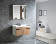 New Fashion Designs PVC Bathroom Cabinet With Sink Bathroom Mirror Cabinet Best Quality Bathroom Vanity Cabinet 6514-80