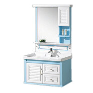 chinese factory lowes wall mounted modern style pvc bathroom vanity combo