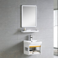 chinese factory cheap modern basin stent space aluminium bathroom vanity in chaozhou