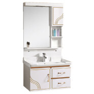chaozhou wholesale cheap hotel washroom modern style pvc bathroom vanity cabinet with mirror